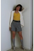 gold Urban Outfitters shirt - gray Forever 21 shorts - silver Urban Outfitters s
