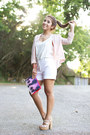 Bershka-blazer-bershka-bag-zara-shorts-h-m-blouse-nine-west-heels