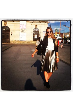 metallic H&M skirt