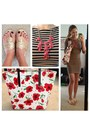 Light-brown-stripes-target-dress-red-red-flowers-kate-spade-bag