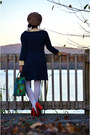 Ruby-red-bow-heels-miss-l-fire-shoes-navy-pearl-collar-oasap-dress