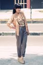 Beige-vintage-cardigan-brown-friday-to-sunday-top-beige-bloop-endorse-pants-