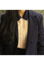 Black-felt-boater-asos-hat-navy-tux-vintage-blazer-white-sheinside-shirt