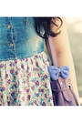 Amethyst-random-bag-periwinkle-denim-floral-h-m-dress-navy-h-m-scarf