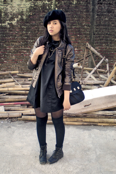 Divided by H&M jacket - Screamous dress - Ebay hat - sox gallery socks - vintage