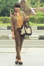 Light-brown-biker-skinny-topshop-jeans-camel-vintage-jacket