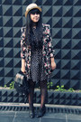 Black-polkadot-skater-primark-dress-black-primark-coat