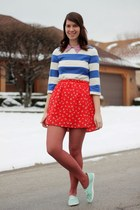 modcloth skirt - H&M shoes - Forever 21 blouse