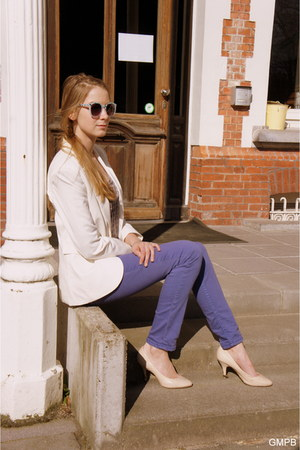 white H&M blazer - light purple Mexx jeans - light purple Mexx top