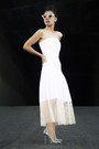 White-white-stella-mccartney-dress-cream-mercura-nyc-sunglasses