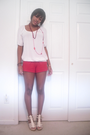 forever 21 shirt - Soffee shorts - Classified shoes - accessories