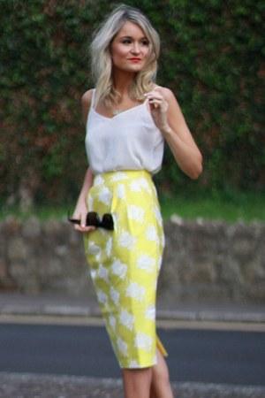 skirt - white strap top