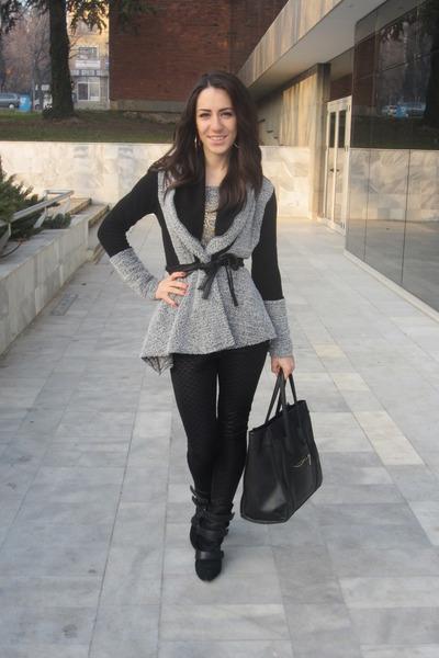 black wedges Isabel Marant boots - black Celine bag