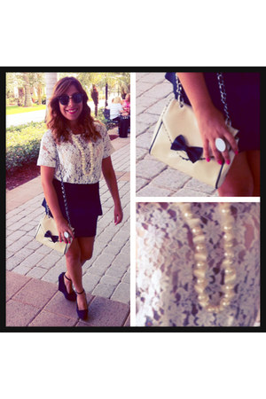 Agaci skirt - Forever21 bag - Pink Wasabi Boutique ring - Forever21 blouse
