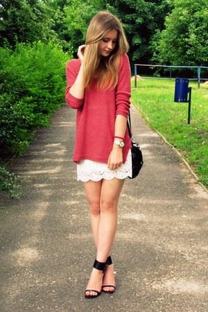 H&M shirt - second hand sweater - Primark bag - Elilu heels