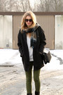 Black-tally-weijl-coat-white-second-hand-sweater-black-zara-bag