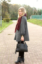 Parfois bag - second hand coat - H&M scarf