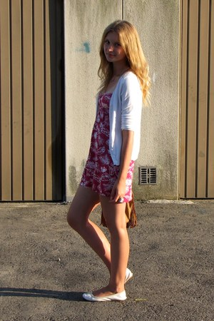 bubble gum Tally Weijl dress - white Bershka shoes - tawny Primark bag