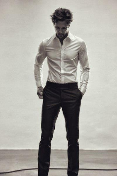 white shirts black pants perfect guy by mary marie