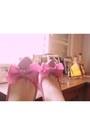 Hot-pants-marisa-shorts-hot-pink-melissa-heels-cropped-vintage-top