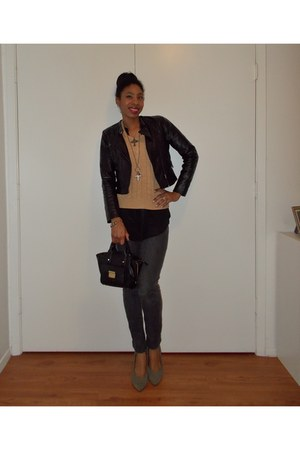 jeggings Forever 21 jeans - faux leather Forever 21 jacket