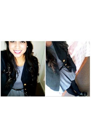 Forever 21 dress - random brand blazer - black cotton on tights