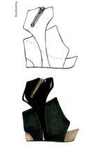 black Jeffrey Campbell shoes - black shoes - silver shoes