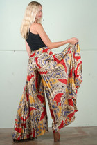 vintage pants - black tank top - tan dany Jessica Simpson heels