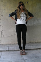 Zara jacket - I made it top - Zara jeans - Zara shoes - Ray Ban sunglasses
