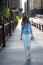 White-anthropologie-pants-sky-blue-topshop-shirt-heather-gray-topshop-bag