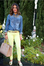 Neon-skinny-american-eagle-jeans-h-m-top-gold-urban-outfitters-flats