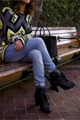 Heeled-combat-boots-knit-beanie-nordstrom-hat-forever-21-sweater