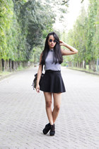 Zara skirt - houndstooth Forever 21 top