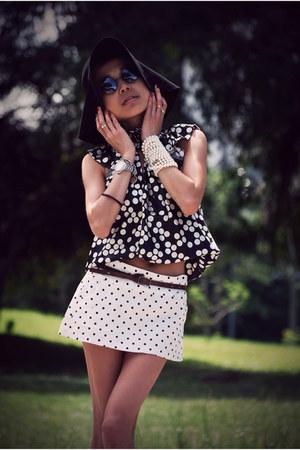dark brown brogues H&M shoes - black vintageinspired SellingOnMyBlog sunglasses