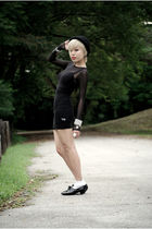 black American Apparel dress - black cotton on dress - black beijing shoes - bla