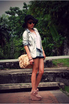 black Eclipse hat - white Pagoda-Eagle shirt - silver CottonOn blazer - blue Top