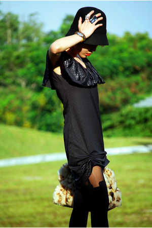 black Fourskin-SG hat - black Dude&amp;Dutchess dress - black House of Holland stock