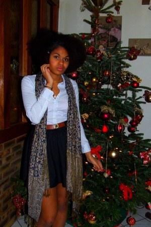 H&M scarf - Zara skirt - H&M shirt
