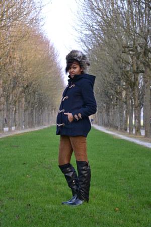 pullbear coat - hm hat - bershka pants