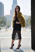 black lucite heel Nasty Gal heels - black lace Topshop dress