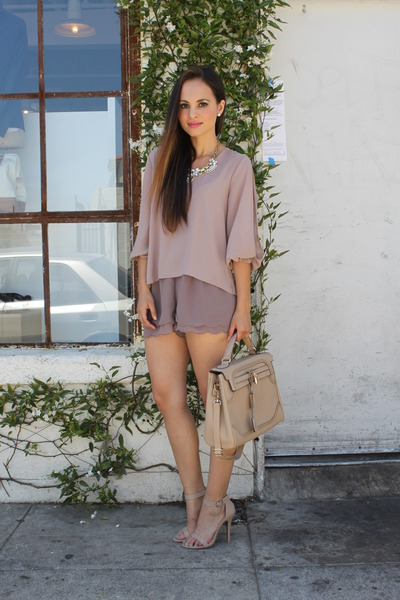 tan Dailylook top - beige Dailylook bag - tan Dailylook shorts