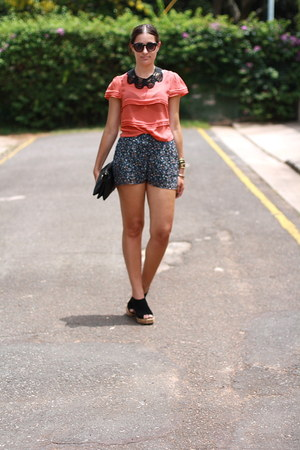 black Marion and Lindie bag - black sass shorts