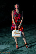 m missoni dress - black balenciaga shoes - Louis Vuitton bag