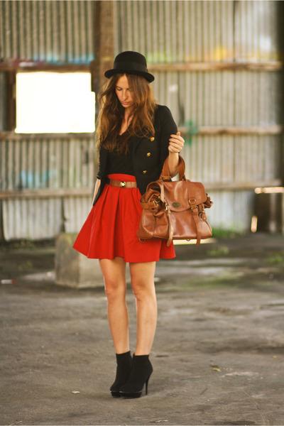 Zara skirt - Nasty Gal jacket - Ebay bag