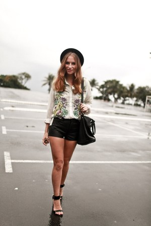 hm shirt - asos hat - Nasty Gal shorts