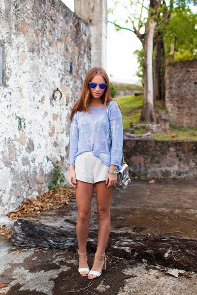 Sheinside sweater - Zara shorts