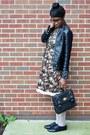Black-til-darling-jacket-light-pink-floral-lace-hem-tulle-dress
