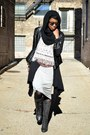 Black-lace-up-wedge-hot-topic-boots-heather-gray-tank-maxi-choies-dress