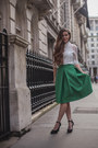 Green-midi-chicwish-skirt-ivory-high-neck-sammydress-top