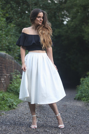 ivory Missguided skirt - black Missguided top